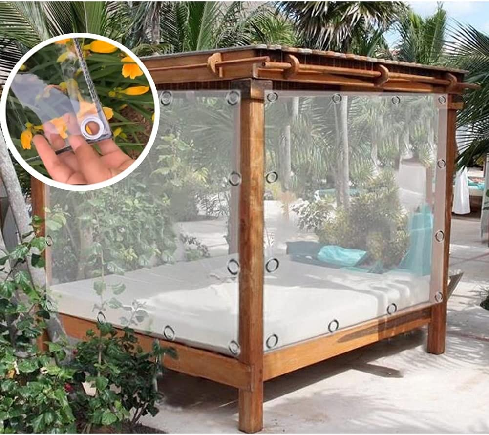 GZHENH Transparent Tarpaulin Challenge the lowest price of Japan ☆ Dust-Proof Virginia Beach Mall Eyelet with Sh