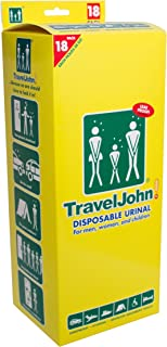 TravelJohn 66892 18-Pack Disposable Urinals Deluxe