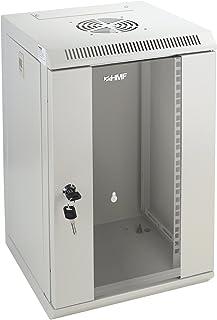 """HMF 63309-07 Baie Serveur 10 Pouces, 9U, Armoire Réseau, Rack Server, 10"""", 31,2 x 30 x 48,3 cm, Entièrement Monté, gris clair"""
