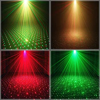 Party Light DJ Disco Lights TONGK Stage Lighting Projector Sound Activated Flash Strobe Light with Remote Control for...