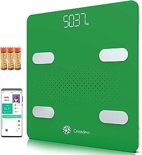 Báscula digital WIFI inteligente con aplicación | Medición de masa grasa y magra | Análisis de composición corporal | Compatible con Apple Health, Google Fit y Fitbit | Electrónica