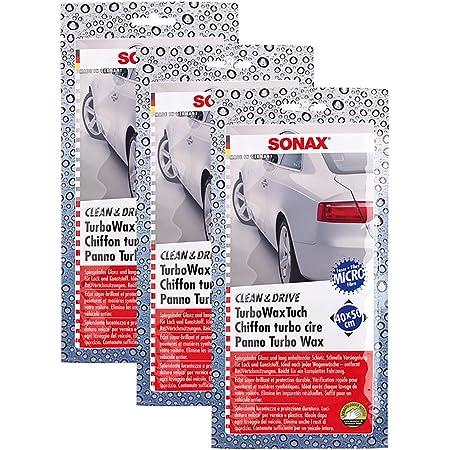 Sonax 3x 04140000 Clean Drive Turbowaxtuch 40x50 Wachstuch 1 Stück Auto