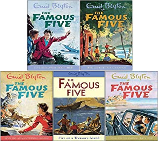 Enid Blyton Famous Five Series 1-5 Books Collection Set (Five On A Treasure Island, Five Go Adventuring Again, Five Run aw...