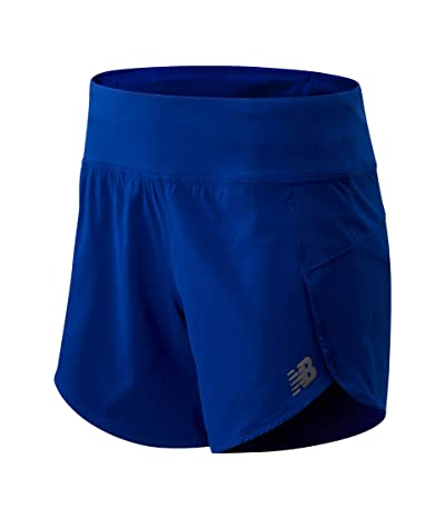 New Balance Impact Run Shorts 5 (Marine Blue) Women
