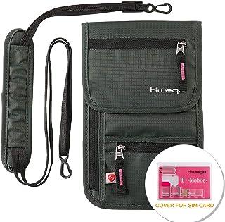 60a3df85dc85 Travel Neck Pouch Hidden Passport Holder Wallet RFID Blocking/Neck Stash  For Men Women