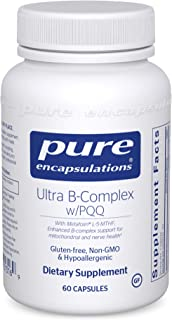 Pure Encapsulations - Ultra B-Complex w/PQQ - Hypoallergenic Supplement with Enhanced Vitamin B-Complex for Mitochondrial ...