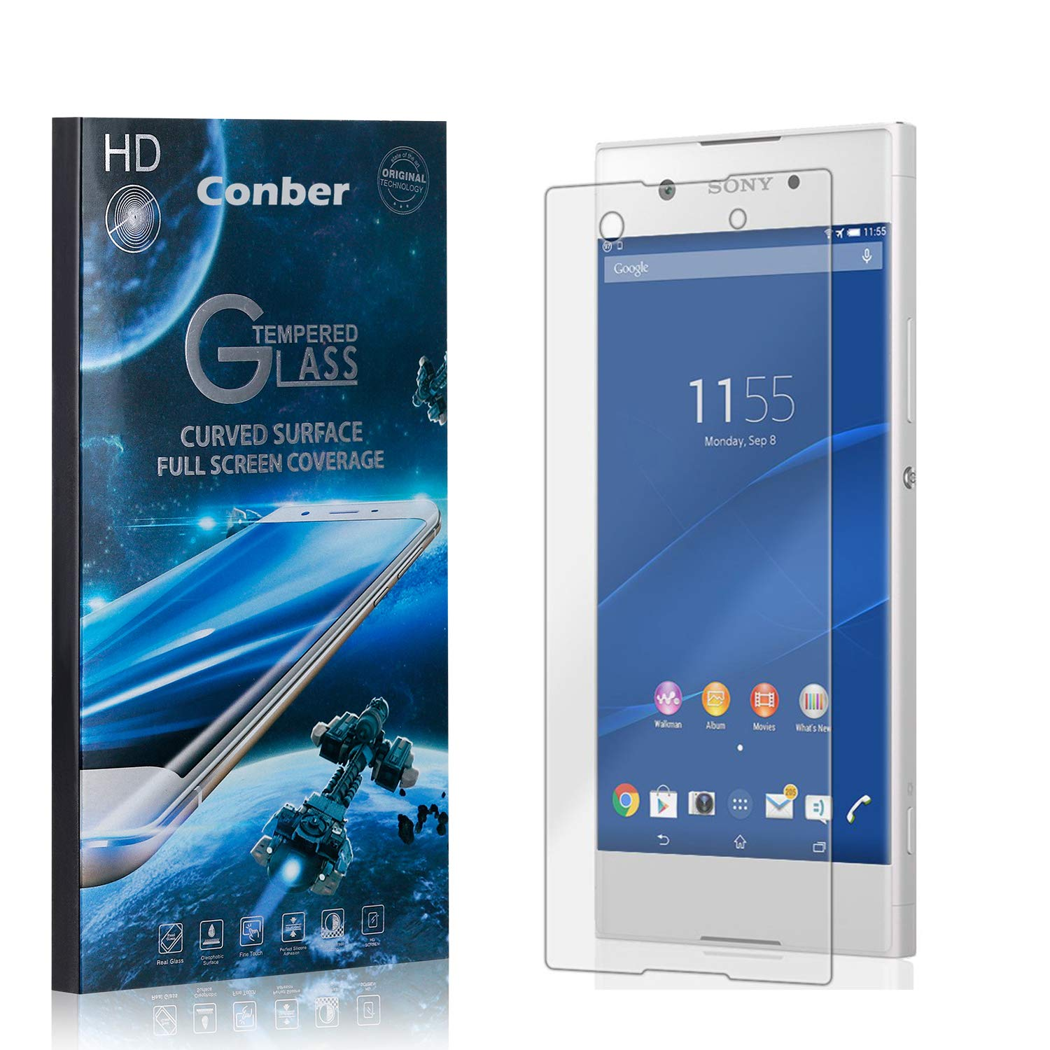 Conber 3 Shipping included Pack Screen Protector Oklahoma City Mall Xperia Scratch-R for XA1 Sony
