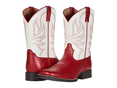 Ariat Kids All Girl Champ (Toddler/Little Kid/Big Kid) (Lipstick Red/Winning White) Girl