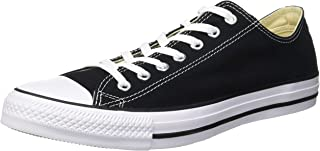 Converse M9166- Chuck Taylor All Star Unisex Ox Low Top Black Sneakers, 10 Women/8 Men