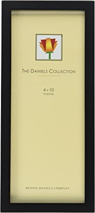 Dennis Daniels Gallery Woods Panoramic Picture Frame, 4 x 10 Inches, Ebony Finish