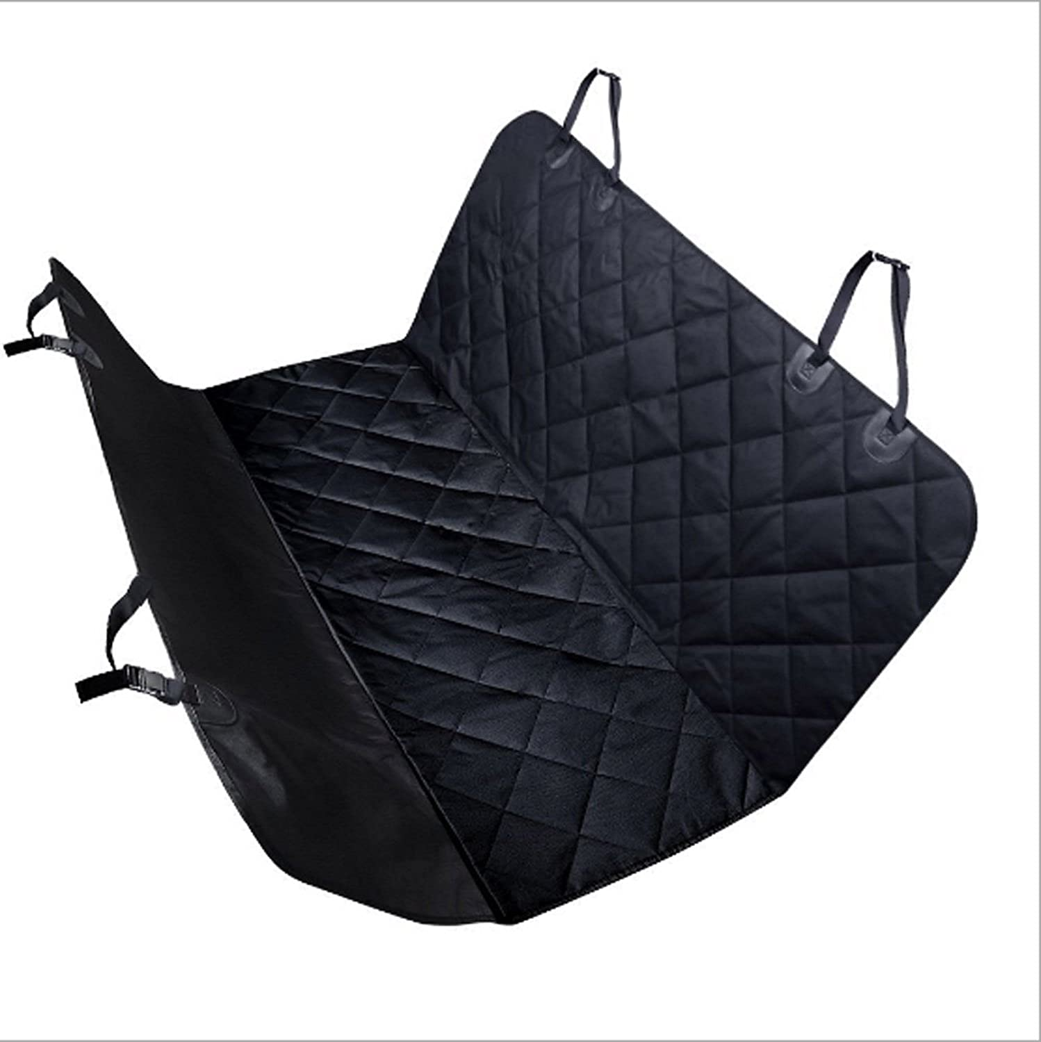 Black Manba Waterproof Nonslip Dog Seat Covers Travel Durable Back Seat Cover With Car Safety Seat Belt,Dog Car Seat Cover With Extra Side Flaps Scratchproof Abrasion Resistance And Hammock Congreeni