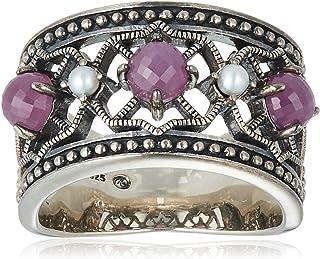 [ROKUZAN] ROKUZAN 银色 红宝石 淡水珍珠 戒指