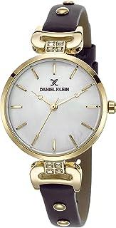 DANIEL KLEIN Premium Alloy Case Genuine Leather Band Ladies Wrist Watch - DK.1.12445-3