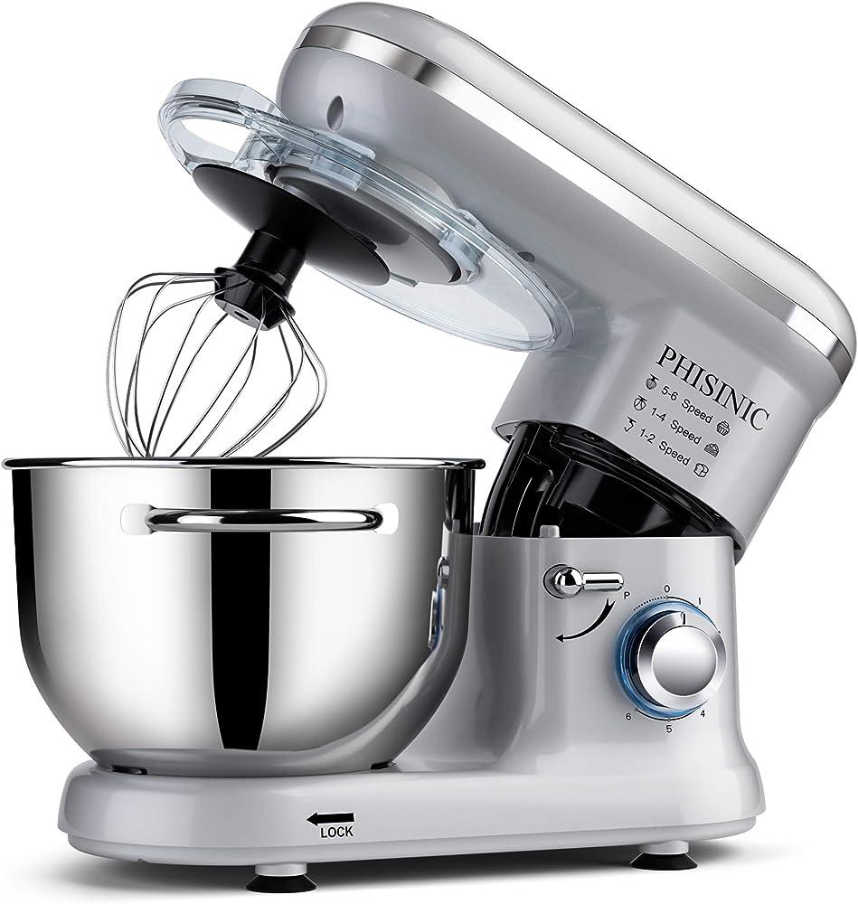 Phisinic robot da cucina , impastatrice planetaria , mixer , ciotola in acciaio inossidabile da 5,5l