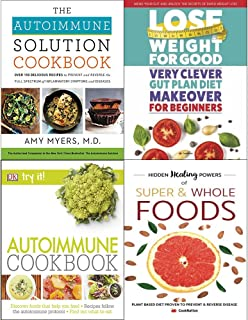 Autoimmune cookbook amy myers [hardcover], very clever gut diet, autoimmune cookbook and super & whole foods 4 books collection set