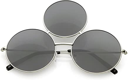 8274ae20f40 sunglassLA - Oversize Circle Third Eye Sunglasses For Men Women Slim Arms  56mm