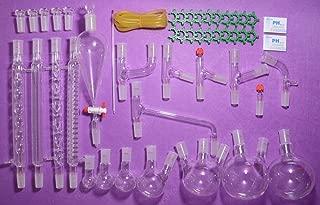 NANSHIN Glassware,TOP Advanced Organic Chemistry Lab Glassware Kit 24/40,lab glassware kit 24/40