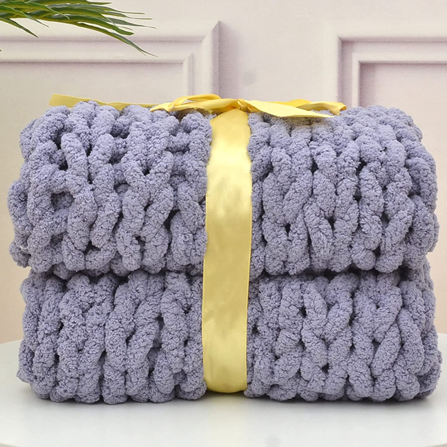 ZUIBESCHOS Chunky Knit New Trust product Blanket Warm Soft Throw Chenille
