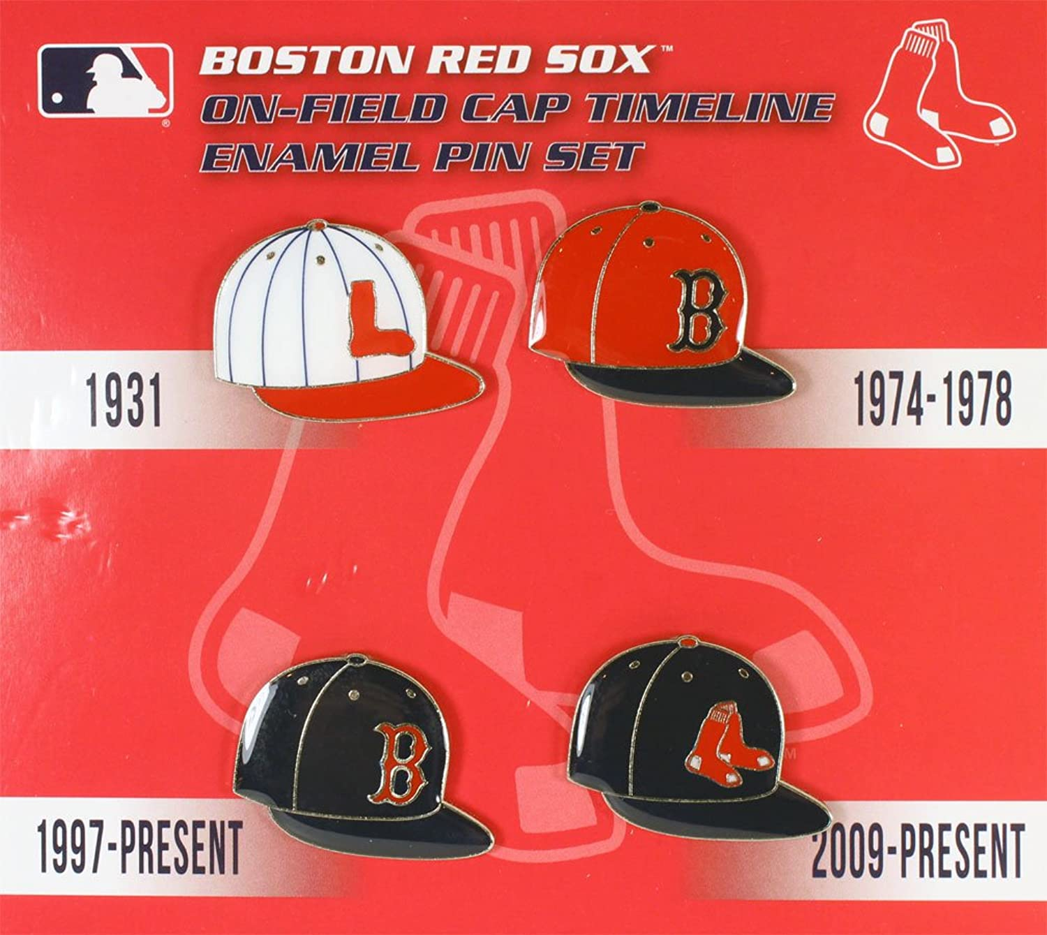 Aminco Boston Red Sox Cap Timeline Pin Set