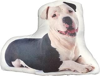 Ella Sussman Pitbull Pittie Cute Dog Breed Stuffed Throw Pillow Decor Decorative Gift