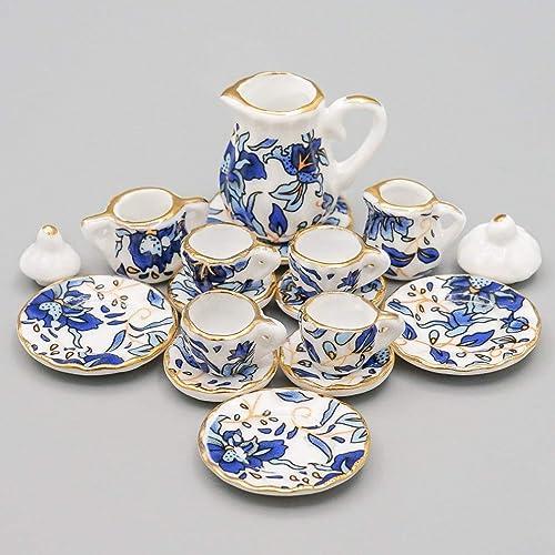 Miniatures World Plato de Porcelana con 4 Mini Pasteles para Decoraciones en Miniatura y Casas de mu/ñecas en Escala 1:12