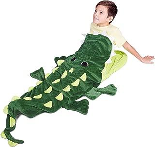 Animal Blanket for Kids - Green Alligator Tail Blanket for Boys & Girls - Warm Comfort Crocodile Style Snuggle Sleeping Bag - Soft Polar Fleece