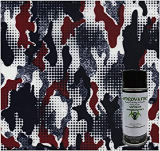 Hydrographics Film Water Transfer Printing Film Hydro Dipping Dip Film Hydrographic Film Red, White & Blue Camo Dip Kit 6oz Activator & Linear Meter Hydro Film
