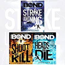 Young Bond Series Steve Cole Collection 4 Books set (Heads You Die, Shoot to Kill, Strike Lightning, Red Nemesis)