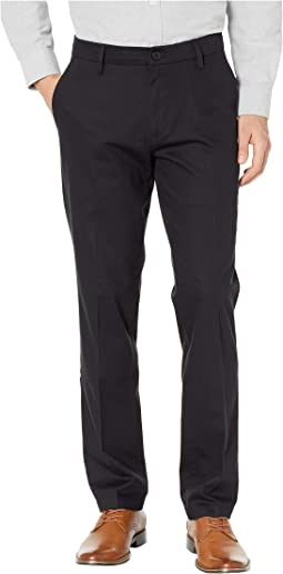 Straight Fit Signature Khaki Lux Cotton Stretch Pants D2 - Creased