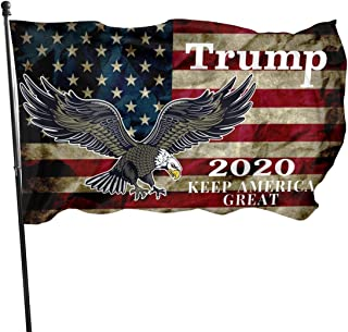JH SPEED Garden Banner 3x5 Outdoor, Eagle American Flag 2020 Keep America Great Flag Indoors Outdoors Banner Grommetsdoubl...