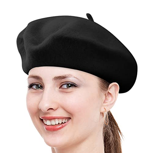 Nollia Solid Color French Wool Beret b4db20d22