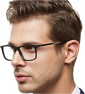 Men Computer Glasses Eyewear Hinge Oversized Eyeglasses...