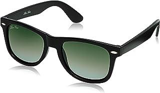 LOUIS SMIT Polarized Wayfarer Men's Sunglasses - (LS108 C1 55|55|Green Color Lens)