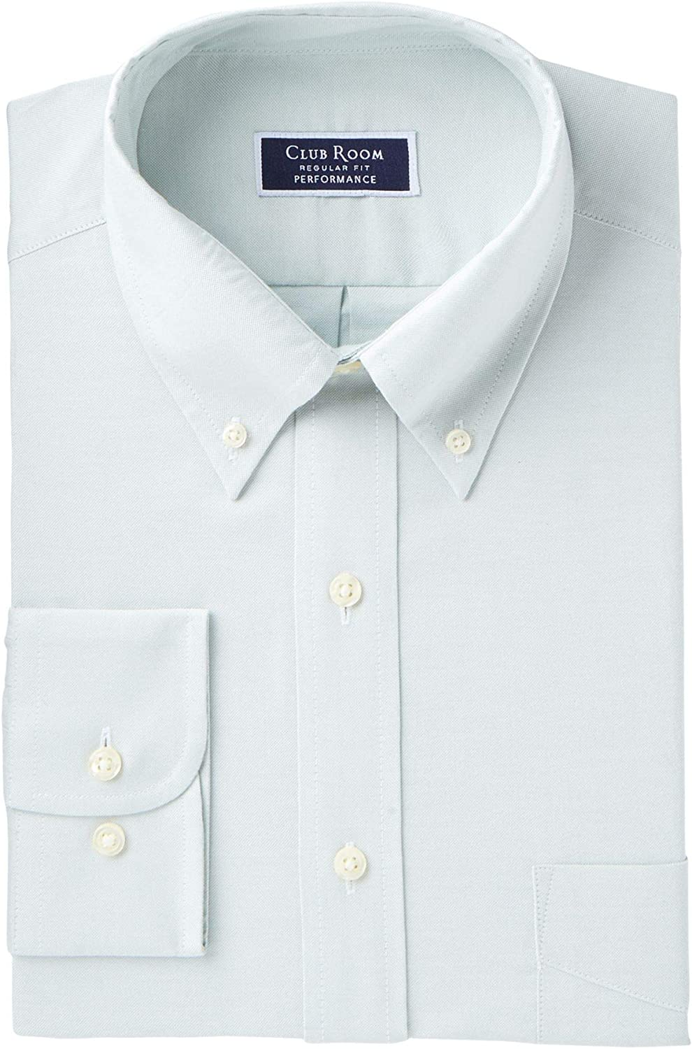 Club Room Men's Classic/Regular Fit Performance Easy-Care Oxford Solid Dress Shirt