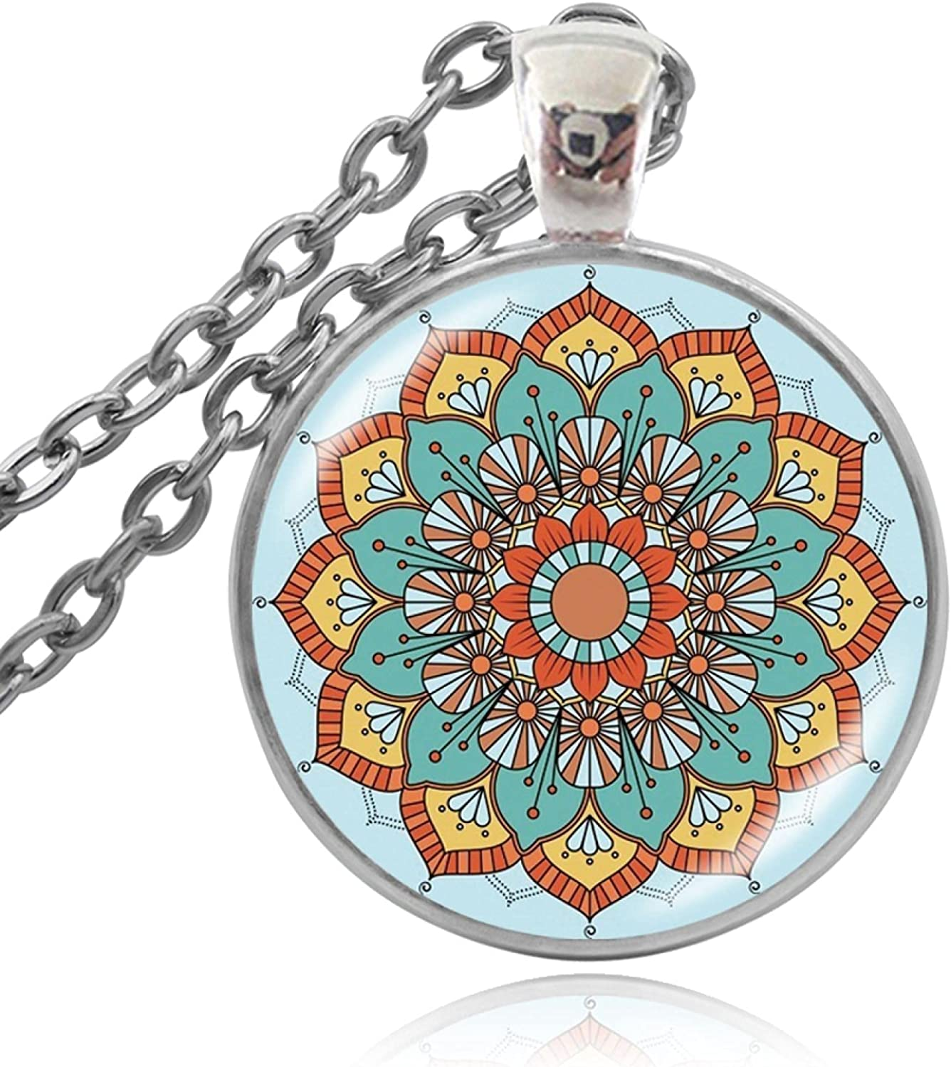 Yoga Pendant Necklaces Don't miss the Max 60% OFF campaign Handmade Jewelry B Necklace Lotus Mandala