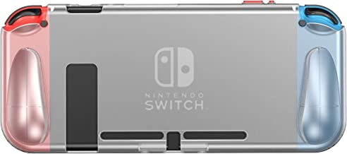 Nintendo Switch Clear Case PHOCAR Grip Cover Compatible with Switch TPU Protective Hard Case for Nintendo Switch Console a...