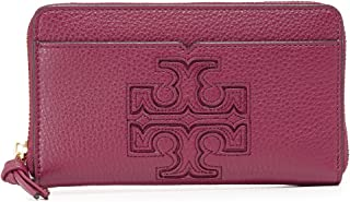 Tory Burch Harper iPhone X 8 7 Leather Wristlet Wallet, Dark Merlot