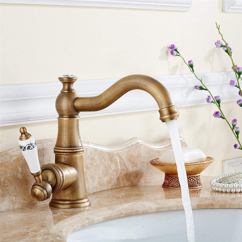 Gyps Faucet Waschtisch-Einhebelmischer Waschtischarmatur BadarmaturBecken - Kupfer Waschbecken Wasserhahn und kaltem Wasser Mischen von Wasser Waschbecken im Bad zu Drehen Wasserhahn Ein,Mischbatte