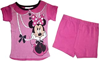 Disny Minnie Mouse Baby Girls 12 Months Flannel hearts and Dots Pajama Set