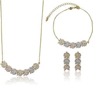 Charles Delon Women Cubic Zirconia Necklace, Bracelet, Earrings Bijoux