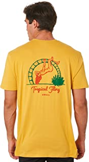 Swell Men's Tropical Fling Mens Tee Short Sleeve Cotton Soft Gold