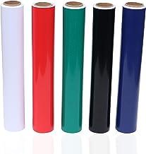 Belle Vous Rollo Vinilo Multicolor (Paquete de 5) - 30cmx3 m Vinilo Autoadhesivo - 5 Colores Rollos Vinilo Pegatinas para ...