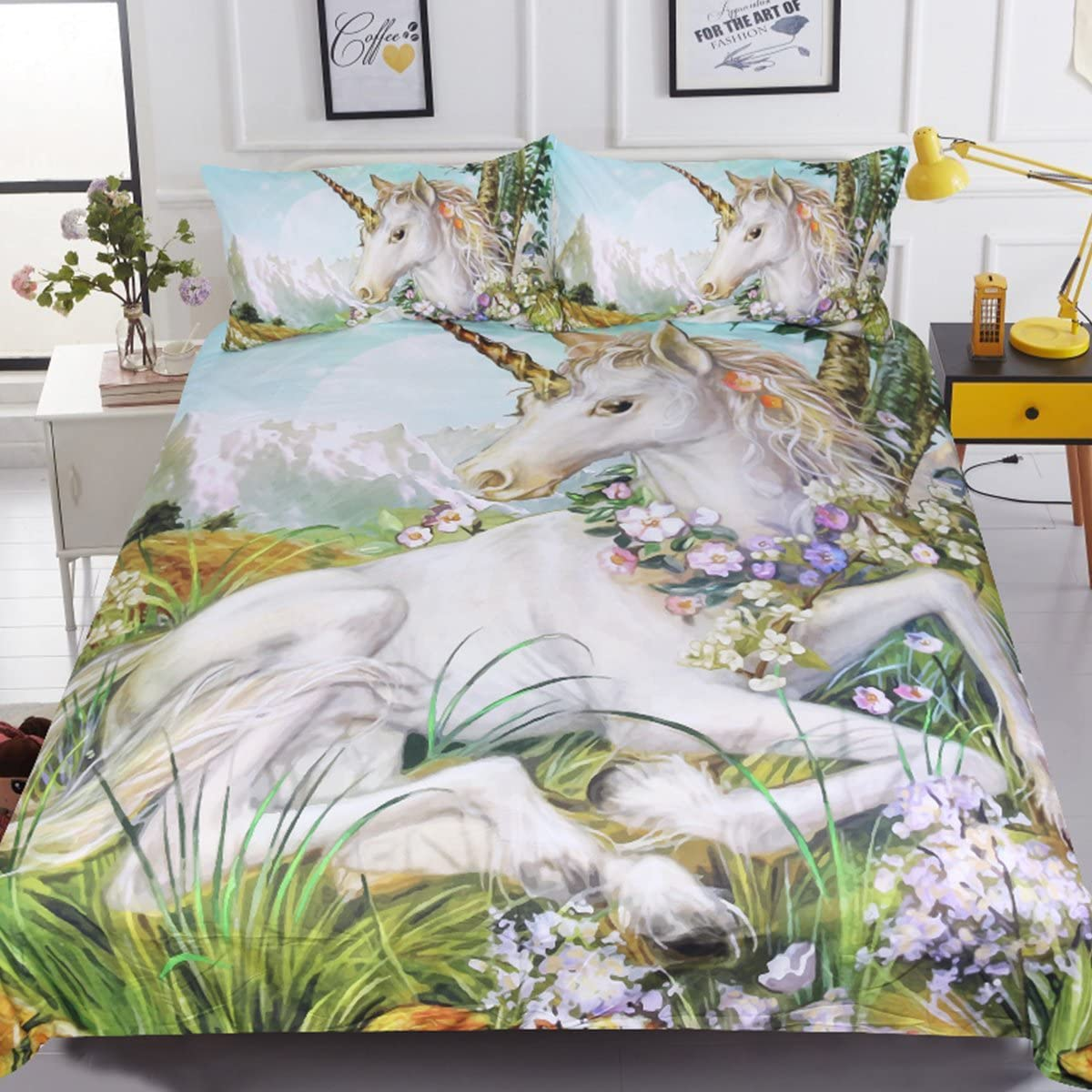 Sleepwish Unicorn Bedspread Courier shipping free 3 Green Plant Deluxe Garden Pieces
