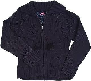 School Uniform Girls Pom-Pom Zip Up Cardigan Sweater
