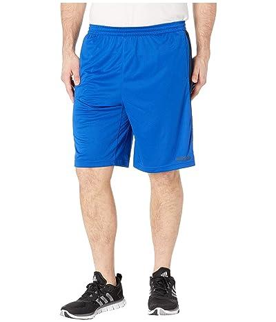 adidas Big Tall D2M 3-Stripe Shorts (Collegiate Royal/Black) Men