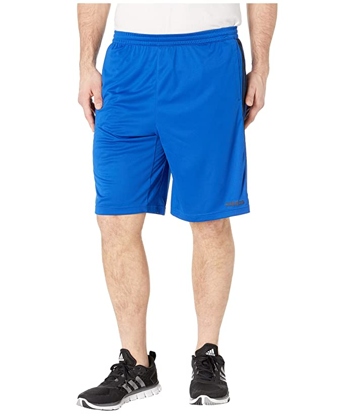 adidas Big Tall D2M 3-Stripe Shorts (Collegiate Royal/Black) Men