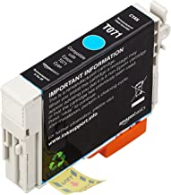 AmazonBasics Remanufactured Ink Cartridge Replacement for Epson T071 Cyan