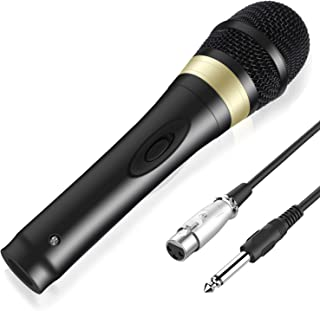 TONOR Wired Dynamic Microphone, XLR Handheld Karaoke Vocal Mic with 13ft Cable for Performance/Stage/Party/Karaoke Machine/Public Speaking/Wedding/Indoor Outdoor Activity, Black