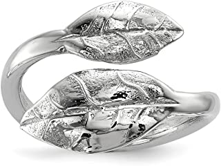 ICE CARATS 925 Sterling Silver Leaf Band Ring Size 7.00 Flowers/leaf Fine Jewelry Ideal Gifts For Women Gift Set From Heart