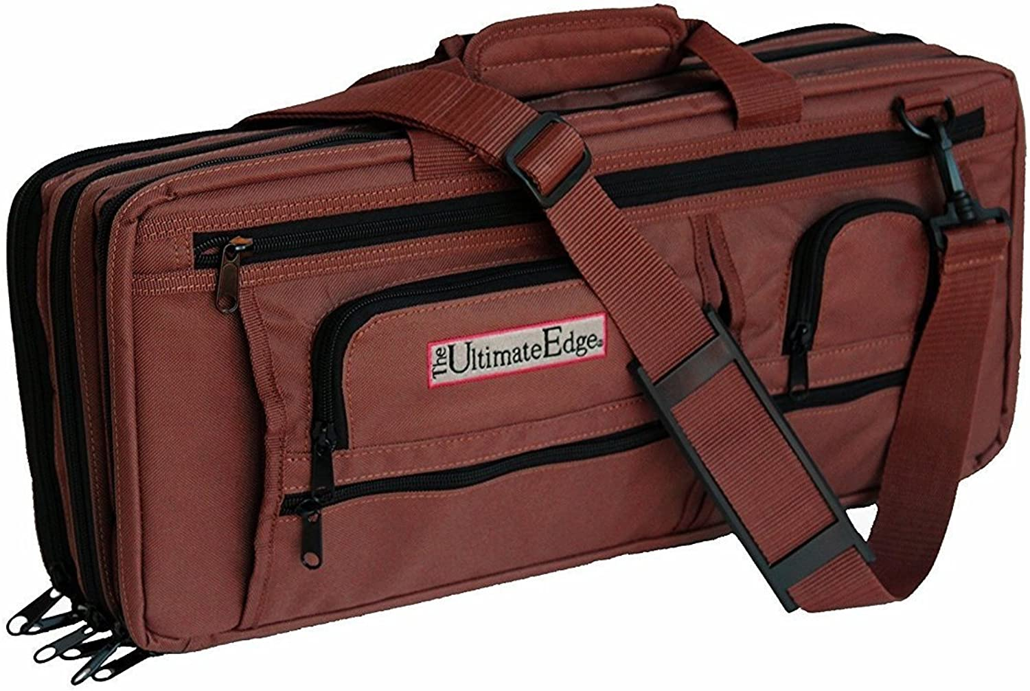 The Ultimate Edge 2001-EDCH Deluxe Chef Knife Case, Chocolate